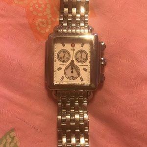 MICHELE Diamond Deco XL Chrono Ladies Watch
